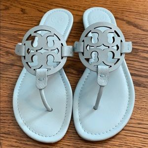 Baby Blue Tory Burch Miller Sandal. Size 9 1/2